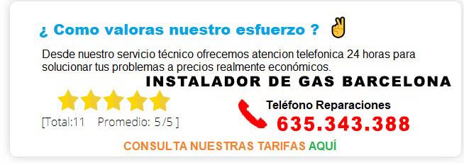INSTALADOR DE GAS BARCELONA PRECIOS